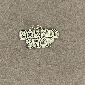 "Vintage Jewelry - Vintage ""Born to Shop"" 14 karat all gold charm"
